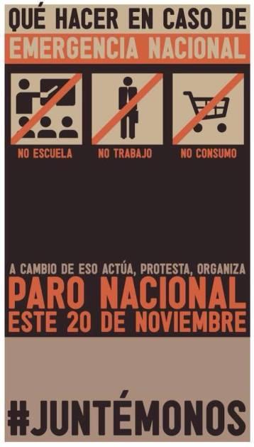 20N Paro Nacional