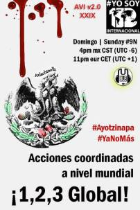 9N Acción Global por Ayotzinapa