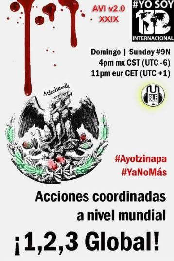 9N Acción Global por Ayotzinapa