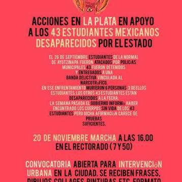 Acción por Ayotzinapa