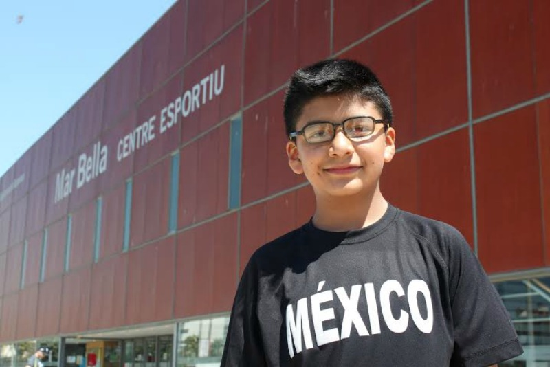 Dylan Hassan Ramírez Sánchez de 13 años, seleccionado que participó representando a México. |Fotografía: Arlene Bayliss